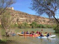En canoa en la presa del Ebro
