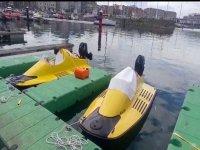 Hidrokarts en el puerto de Gijón