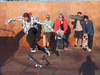 Skate sessions during the camp in Villaviciosa