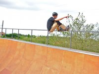 Raised the railing with the skate in Villaviciosa
