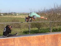 Taking photos of the skate session in Villaviciosa