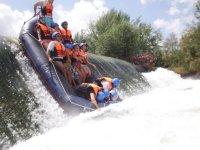 Passing the dam in the Segura