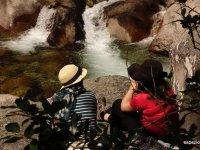 Fotografiando la cascada