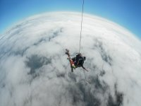 Flying by parachute