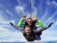 Parachute jump from Barcelona