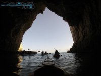Kayaking out of the cave