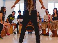 Percusion en el campamento de Alicante