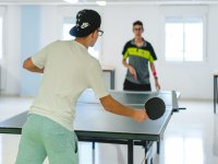 Ping pong durante el campamento