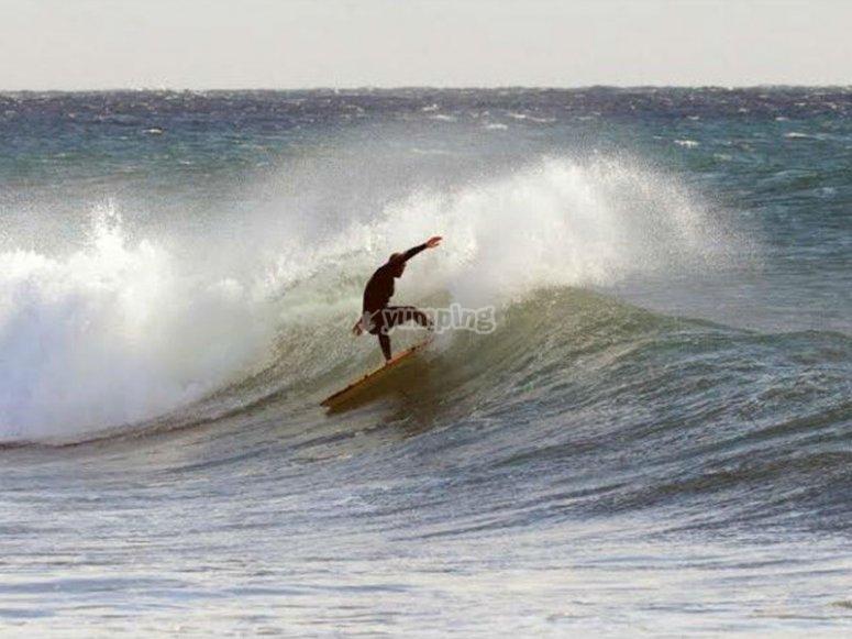 Surfeando en San Agustín