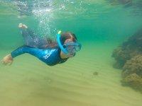 Snorkel en la playa de Noja