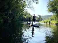 Ruta de paddle surf en el río Eo