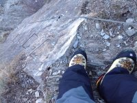 Escalando con escarpines
