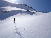 Raquetas de nieve en solitario