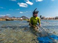 Snorkel desde kayak en Las Palmas