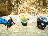 Riposo sulla costa valenciana con le tavole sup