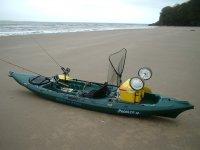 kayak preparado para pesca