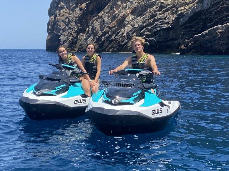 Jet ski a Ibiza