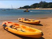 Kayaks en la Bahía de Santander