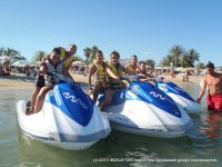 Navega en moto de agua