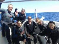 Travesia para bucear en alta mar