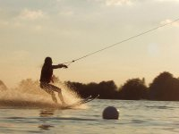 Water ski with the sunset