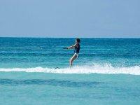 Water ski in the Mediterranean