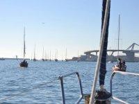 甲板上船只的风景