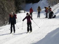 在滑雪电路背景类越野滑雪