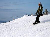 Snowboarding in Pleta del Prat