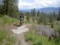 山地自行车路线的自行车之旅