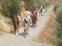 Salida a caballo en el campamento de Granada