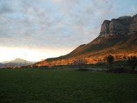 Paisajes de Huesca al caer el sol