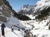 De ruta con raquetas en Huesca