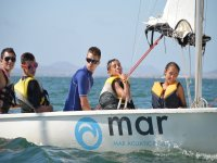 Our students in sailing class