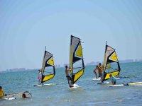 Probando el windsurf