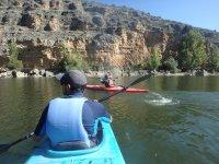 Travesia en canoa en grupo