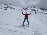 Esquiando a su bola