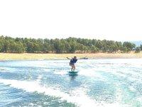 Commencer la session de wakeboard