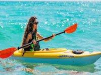 En el kayak por la costa de Fuerteventura