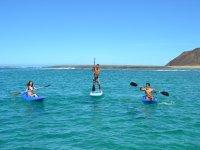 Remando por la costa de Fuerteventura