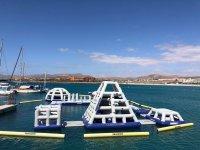 Parque acuatico hincable en Caleta Fuste