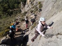 Primeriza en la escalada