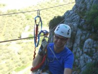 Via ferrata con tirolina