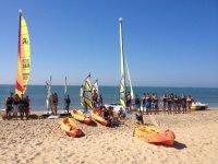 Actividades nauticas en Playa Central