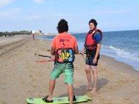 Aprendiendo kite en Isla Cristina