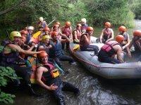 team building con descenso de rafting