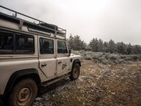 By the field in 4x4