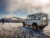 4x4 sobre la nieve en el Valle de Juarros