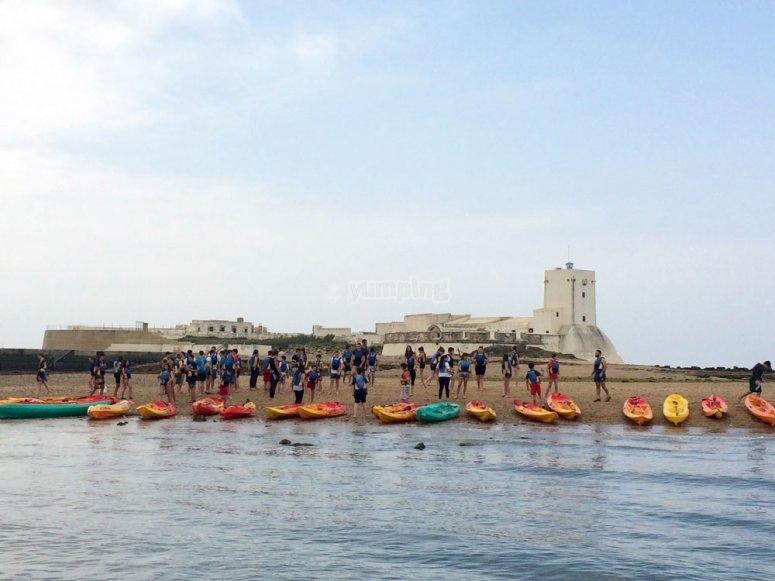 Ruta en kayak en Sancti Petri