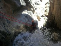 Rappel on the ravine
